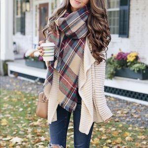 Multi-color blanket scarf
